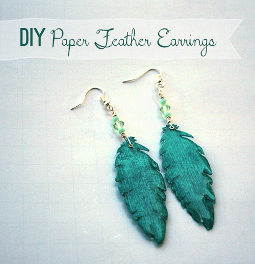 Make Paper Feather Earrings