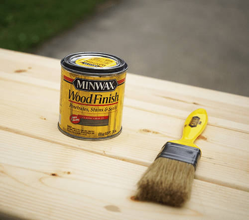 finished with Minwax wood conditioner and Classic Grey Minwax stain