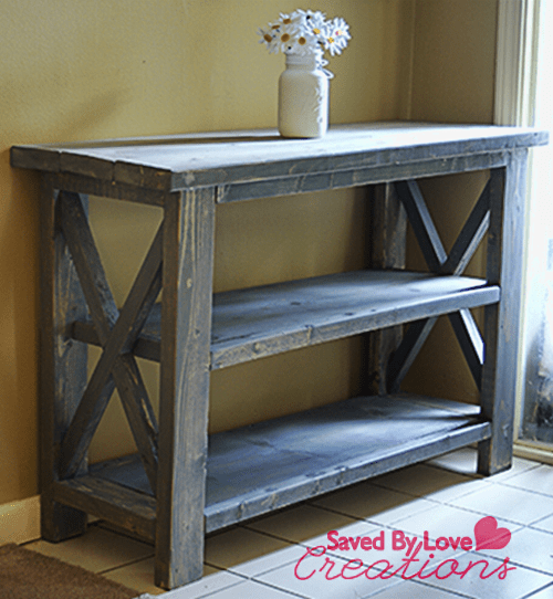 build a rustic sofa table sure fit slipcovers make custom console woodworking diy plan from ana white built by savedbyloves