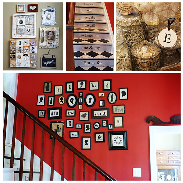 Silhouette Gallery Wall & Other Vintage Home Decor Inspritation