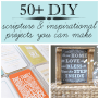 Diy Tissue Paper Scripture Chalky Finish Wall Art