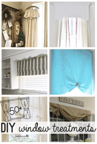 50 Plus Awesome DIY Curtains & Other Window Treatments