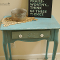 Furniture flip chalk paint distressed table diy
