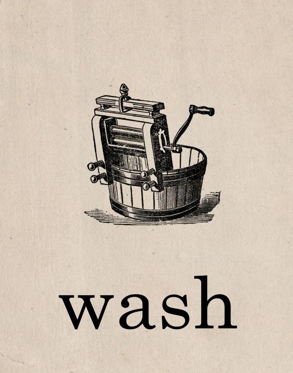 Free Vintage Laundry Room Printables