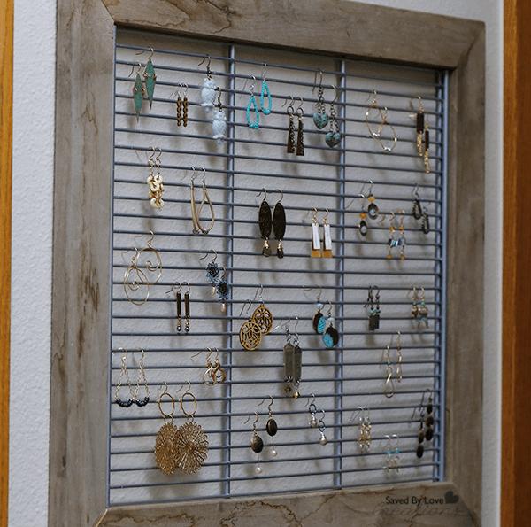 Diy Repurposed Shelf To Jewelry Display