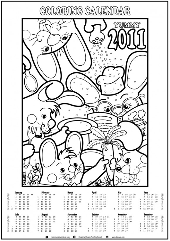 Top 10 Really Artistic 2011 Printable Calendars For Free