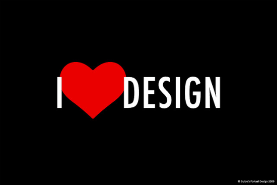 I Love Design Typography Wallpaper