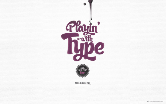 Playing With Type Wallpaper