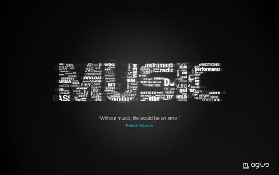 Music Typo Wallpaper