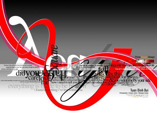 Wallpaper: 3squaredesign - typography flow - threesquare