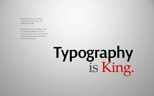 Wallpaper: allonlim - Typography is King