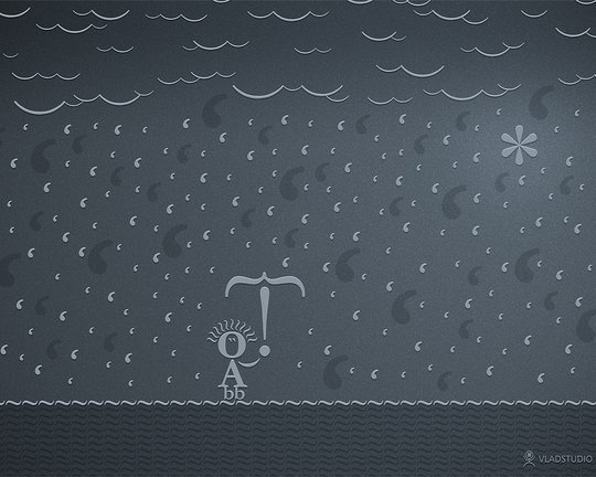 Wallpaper: VladStudio - Typographic Rain