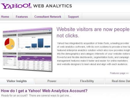 Yahoo! Web Analytics tools