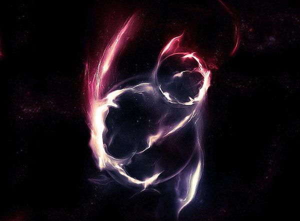 Create Awesome Abstract Nebula Circle Shape
