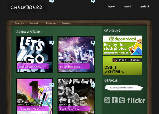 Create a Chalkboard Style WordPress Layout