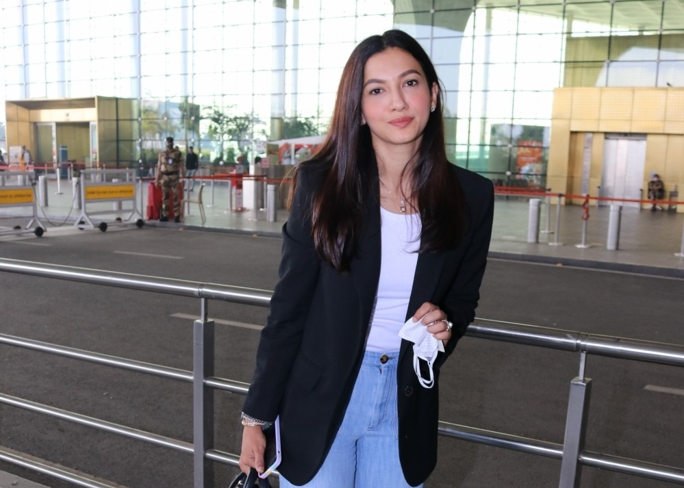 Bollywood Actress and Model Gauhar Khan Spotted At Airport Departure