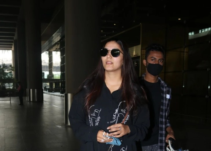 Sapna Choudhary Spotted at Airport Arrival
