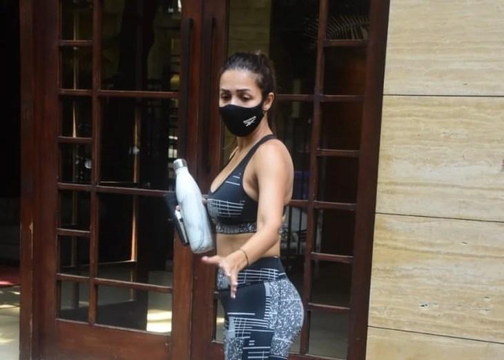 Malaika Arora Spotted at Yoga Class In Bandra