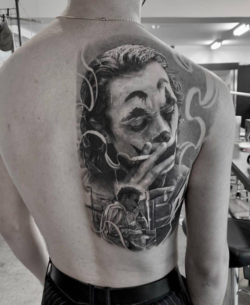 Joker Chest Tattoo : joker, chest, tattoo, Joker, Tattoo, Design, Ideas, Saved