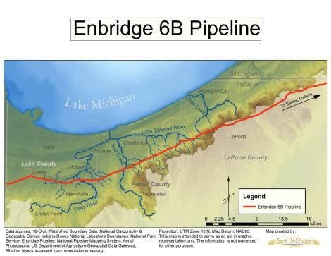 Enbridge map