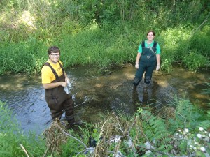 GLISTEN Stewards sample the LCEB watershed in 2012.