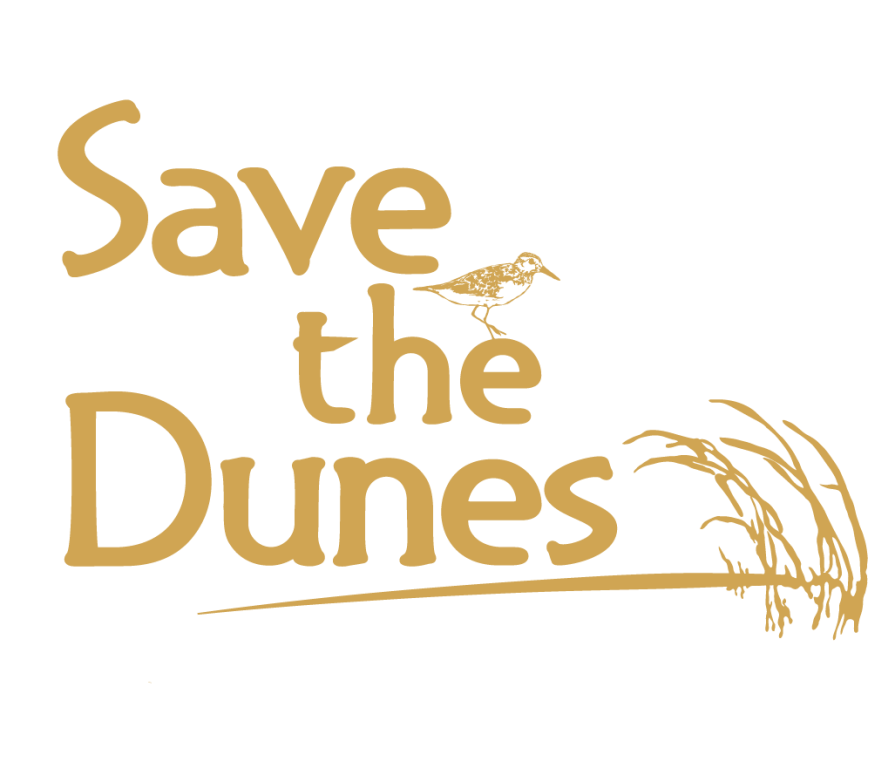 Save the Dunes Square Gold logo