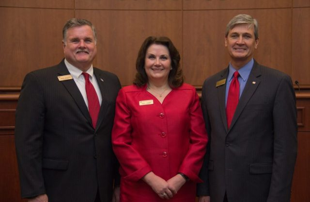 Commissioners David Weaver, Lora Thomas and Roger Partridge.