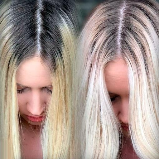 DYE MY HAIR WITH ME: Blending Dark Roots Into Blonde ...