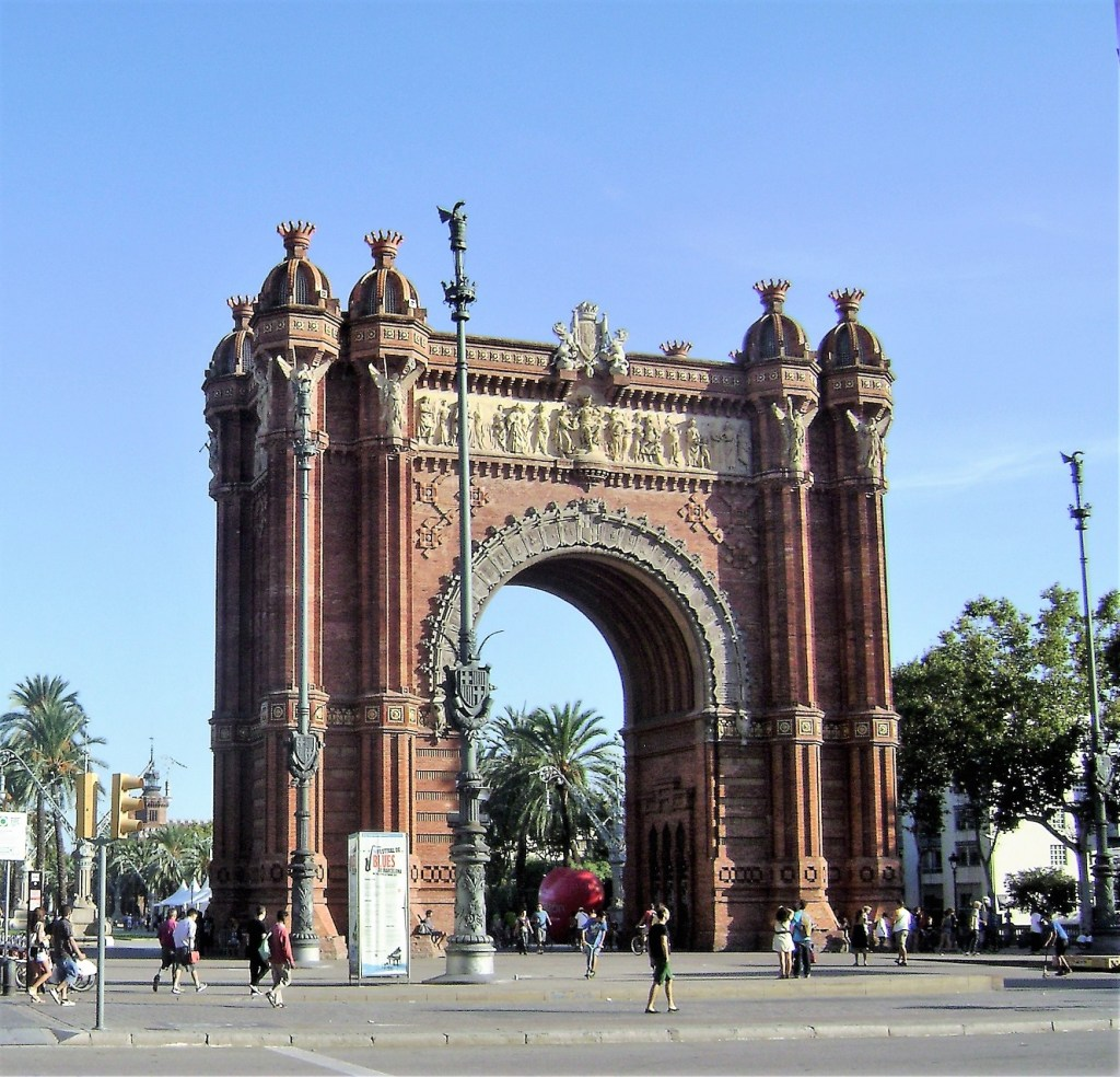 Arc de Triomf in Barcelona, Spain