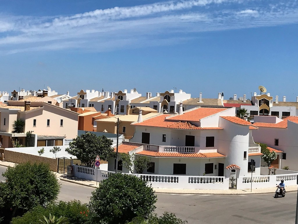 Lagos, Portugal - white-washed houses