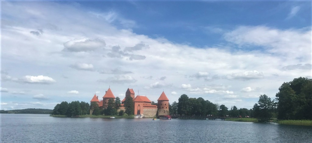 Trakai Island Castle in Lithuania - view from the lake