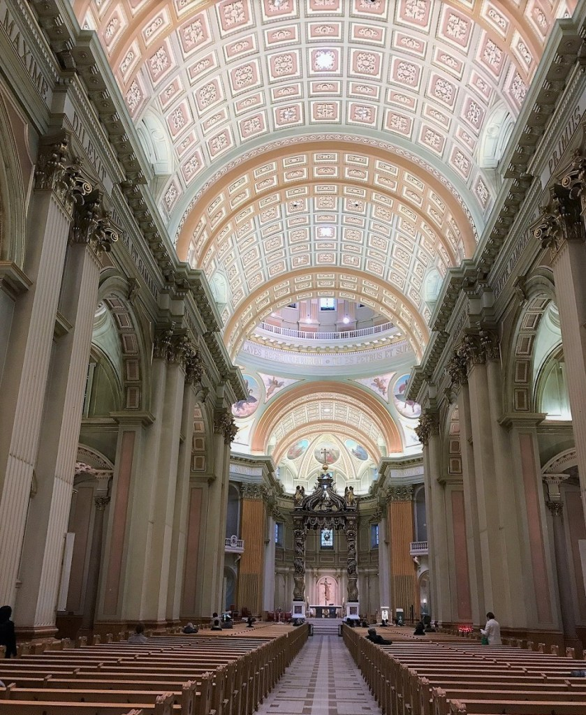 interior of Mary Queen Cathedral in Montreal