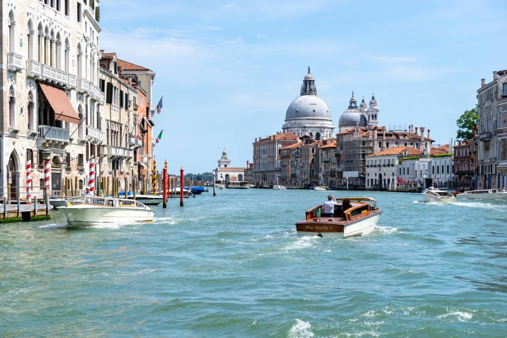 a boat on a water in Venice Italy-travel in retirement