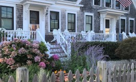 Old house with a garden in Provincetown