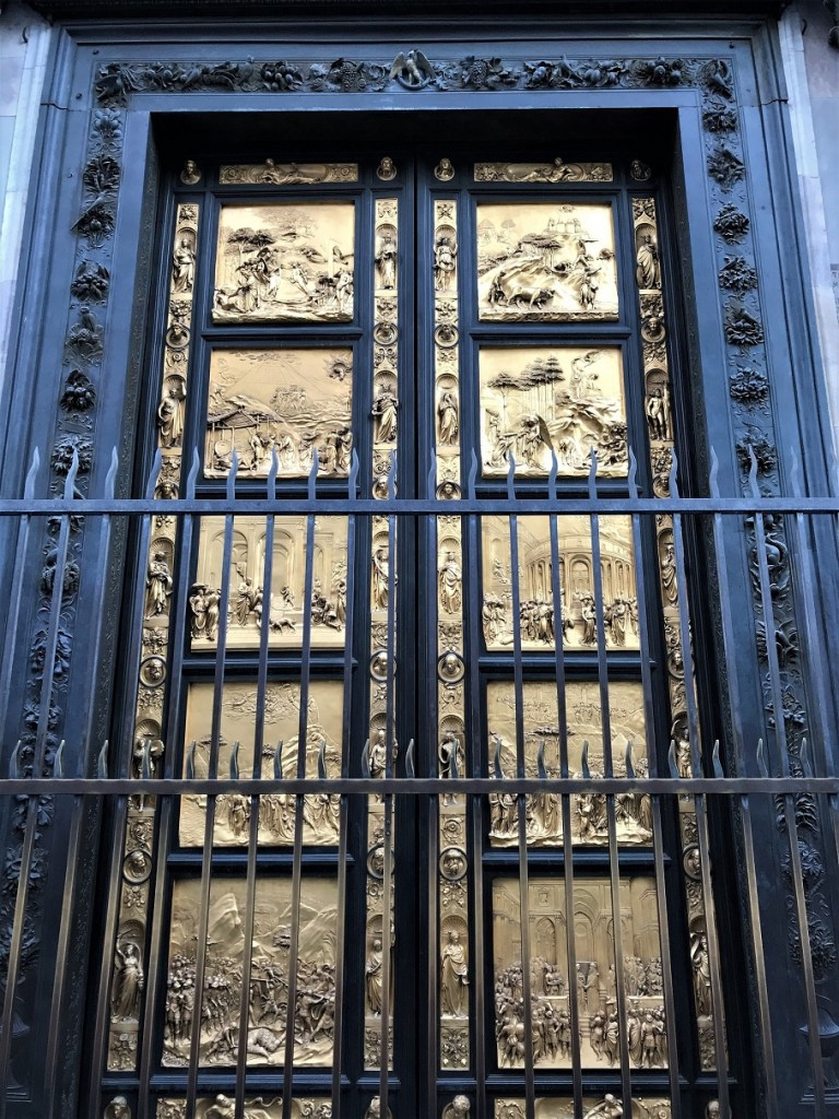 The door of Baptistery in Florence