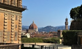 View to the city of Florence in Italy
