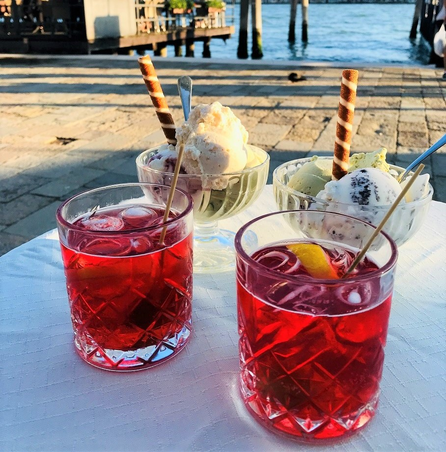 two glasses of Spritz Campari