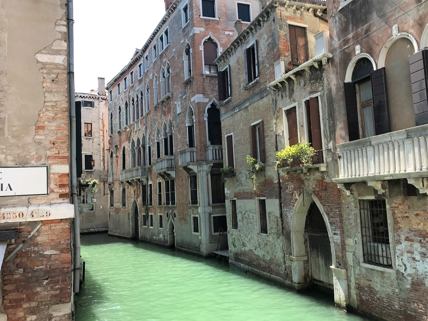 Canals and old homes in Venice