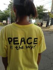 """there is no way to peace, peace is the way"""