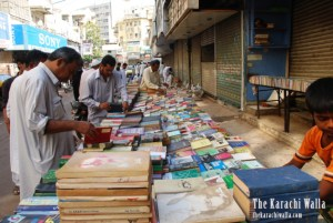 Buying books in Regal Chowk Karachi