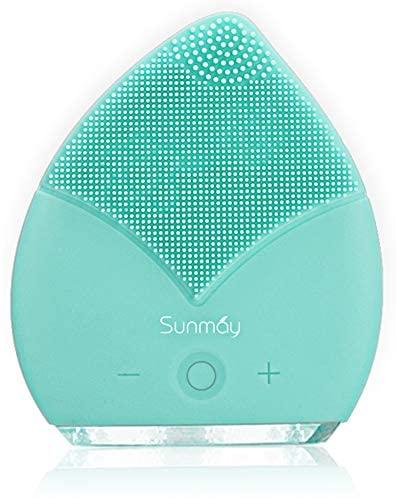 【Sunmay Leaf】SUNMAY Spazzola Viso Pulizia Silicone, Massaggiatore Elettrico...