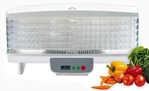 Essiccatore professionale per alimenti funghi erbe frutta, 550W DCG FD1077