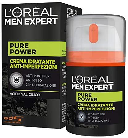 L'ORÉAL Paris Men Expert Crema Viso Uomo Idratante Anti-Imperfezioni Pure...