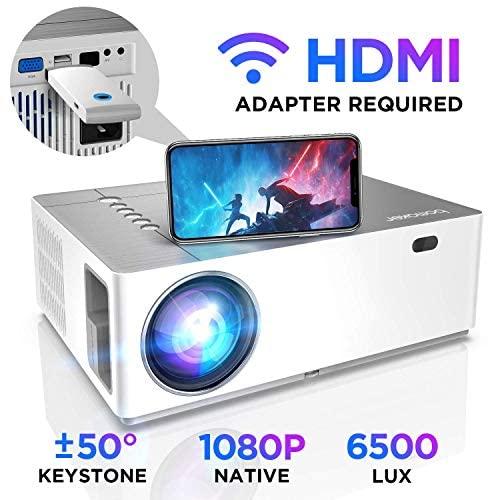 Proiettore BOMAKER 6500 Lumen Nativo Full HD 1080p videoproiettore, ± 50°...