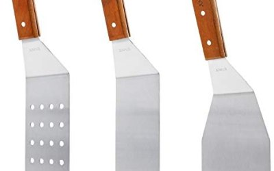Raschietto in acciaio INOX grill spatola da cucina e da cucina con manici…