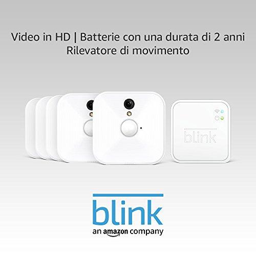 Sistema di videocamere per la sicurezza domestica Blink, per interni, con...