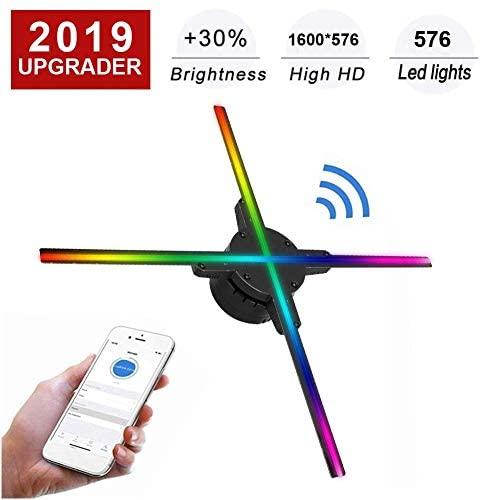 Wendry Proiettore Olografico 3D WiFi,Design della Lama 50C 4,Risoluzione...