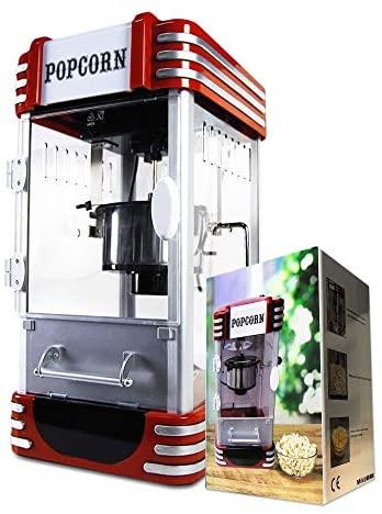 mikamax - Retro Popcorn Machine - Deluxe - Macchina per Popcorn - Cinema...
