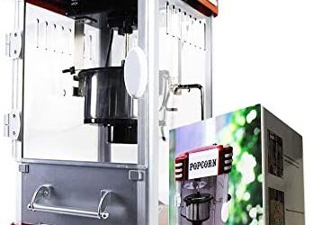 mikamax – Retro Popcorn Machine – Deluxe – Macchina per Popcorn – Cinema…