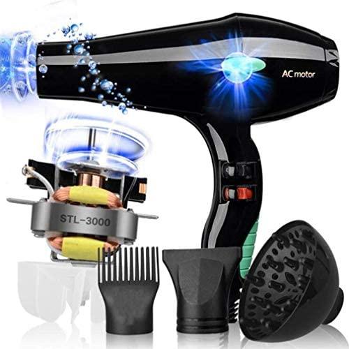 Asciugacapelli Professionale Da 3000W Ion Salon,2 Velocità 3 Impostazioni...